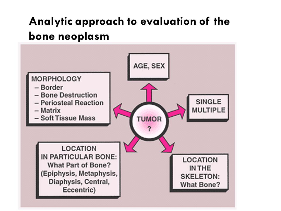 Analytic approach to evaluation of the bone neoplasm