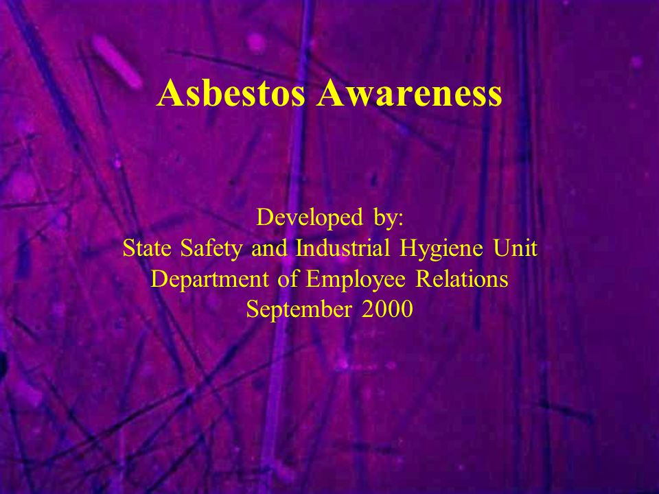 Asbestosis fatalities Spray-on use ends