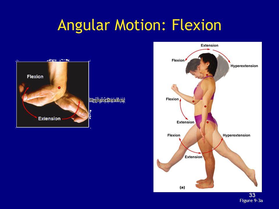 Angular Motion: Flexion Figure 9–3a 33