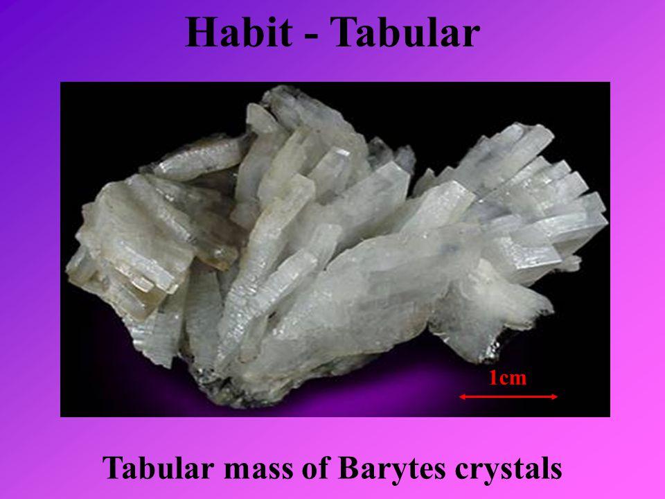 Habit - Tabular Tabular mass of Barytes crystals 1cm
