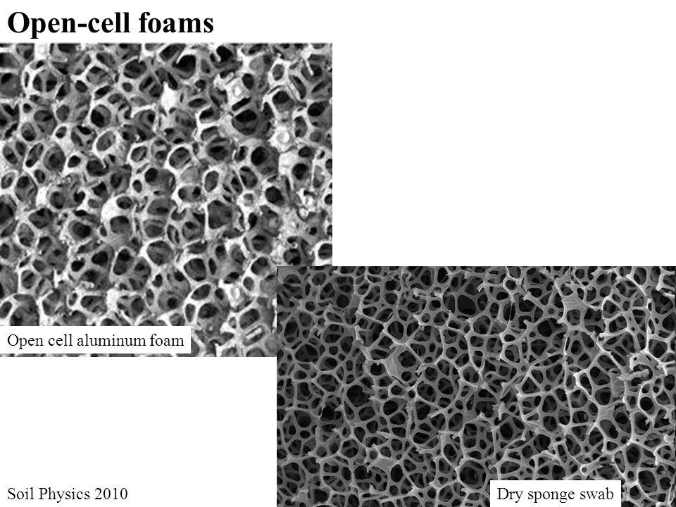 Open cell aluminum foam Dry sponge swab Open-cell foams Soil Physics 2010