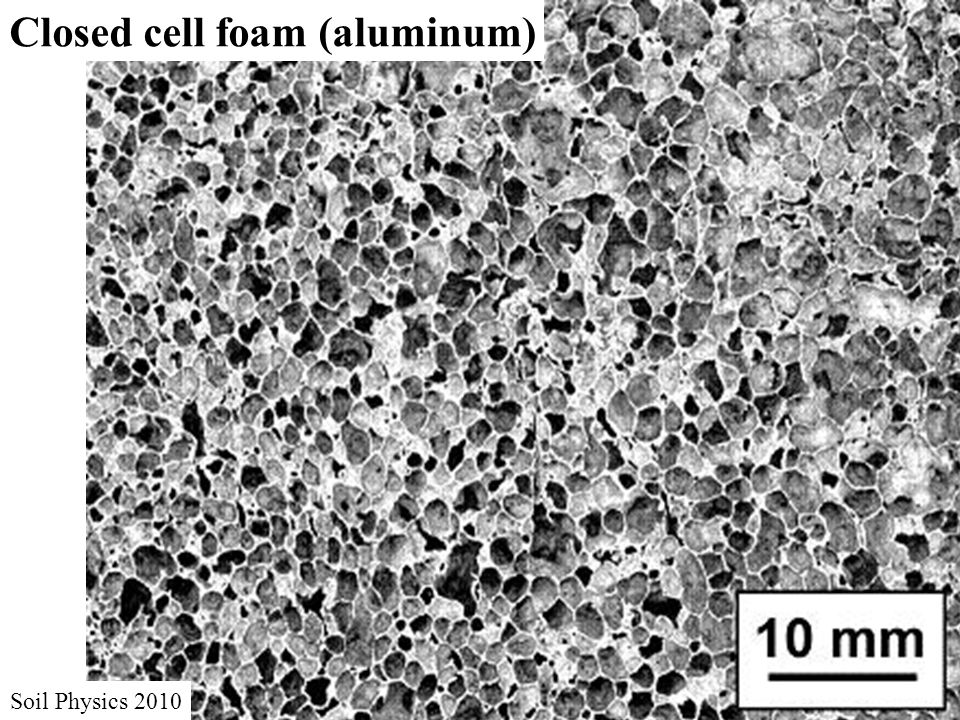 Closed cell foam (aluminum) Soil Physics 2010