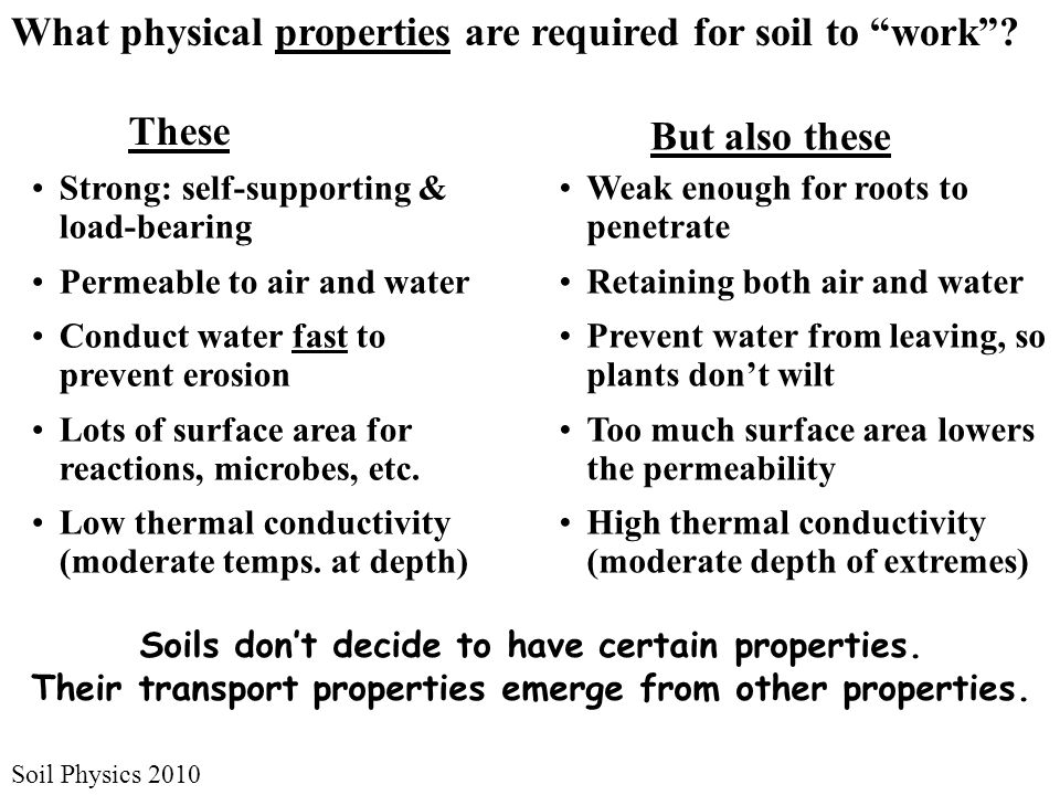 Soil Physics 2010 What are the big issues in soil physics today.
