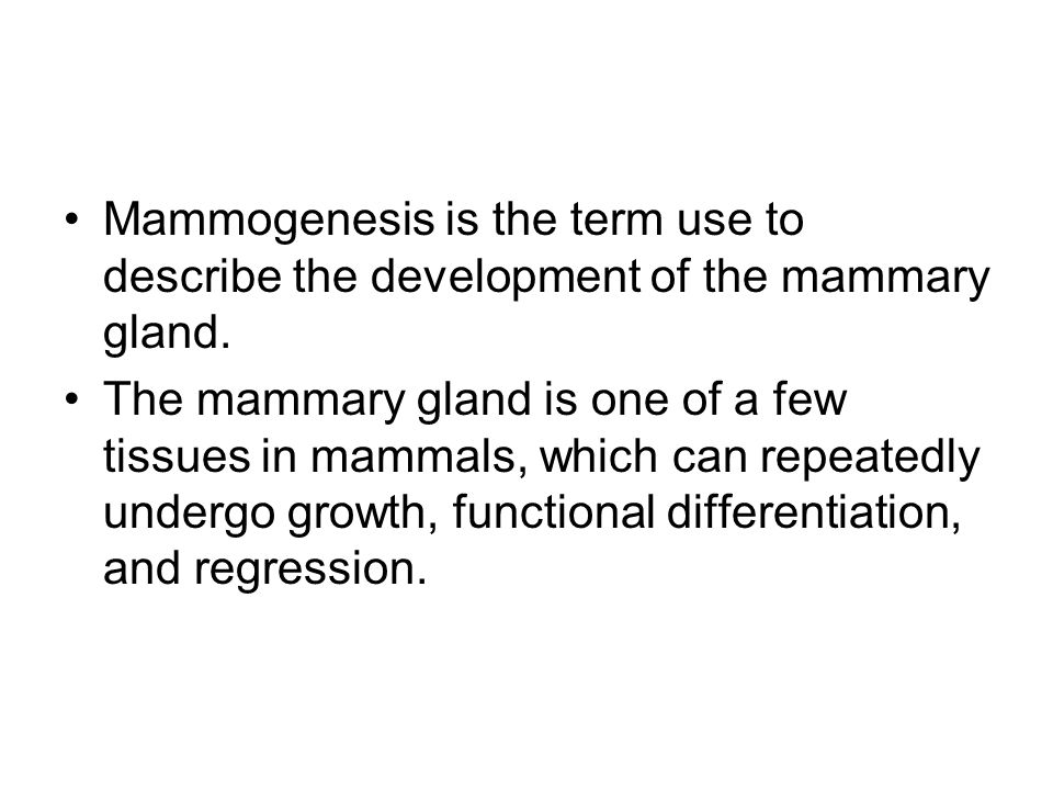 Development of Mammary Glands Are a modified and highly specialized type of apocrine sweat glands.