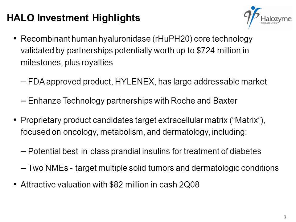 4 Halozyme Targets the Matrix Matrix Therapies For Life