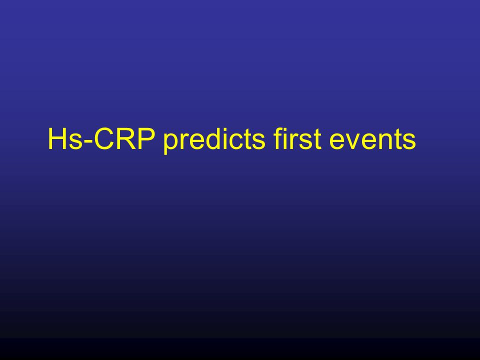 Hs-CRP predicts first events