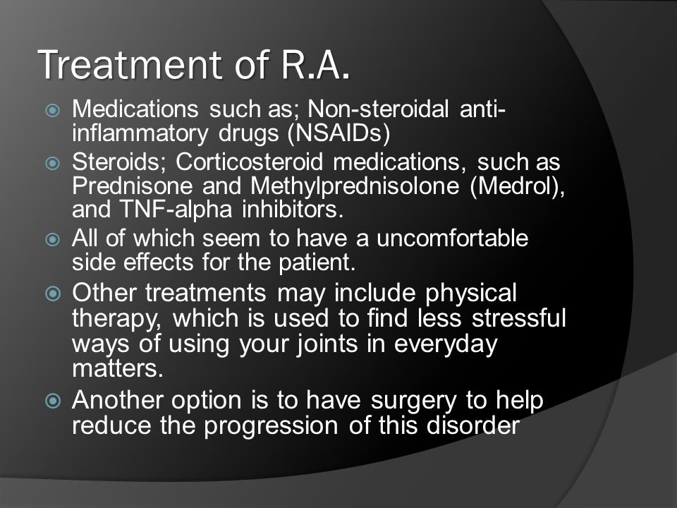 Treatment of R.A.