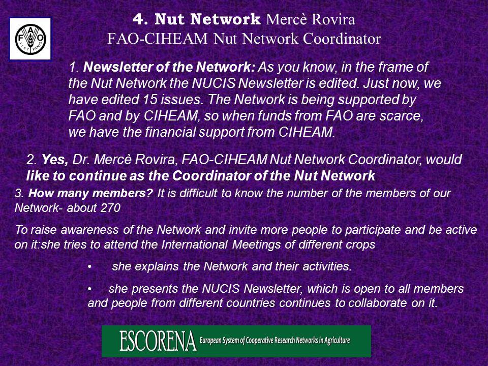 4. Nut Network Mercè Rovira FAO-CIHEAM Nut Network Coordinator 1.