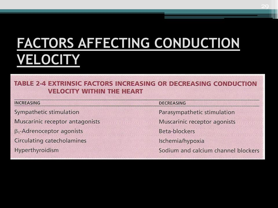 FACTORS AFFECTING CONDUCTION VELOCITY 29
