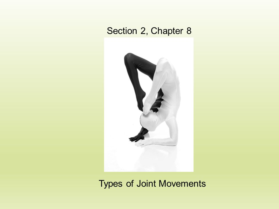 Types of Joint Movements Section 2, Chapter 8