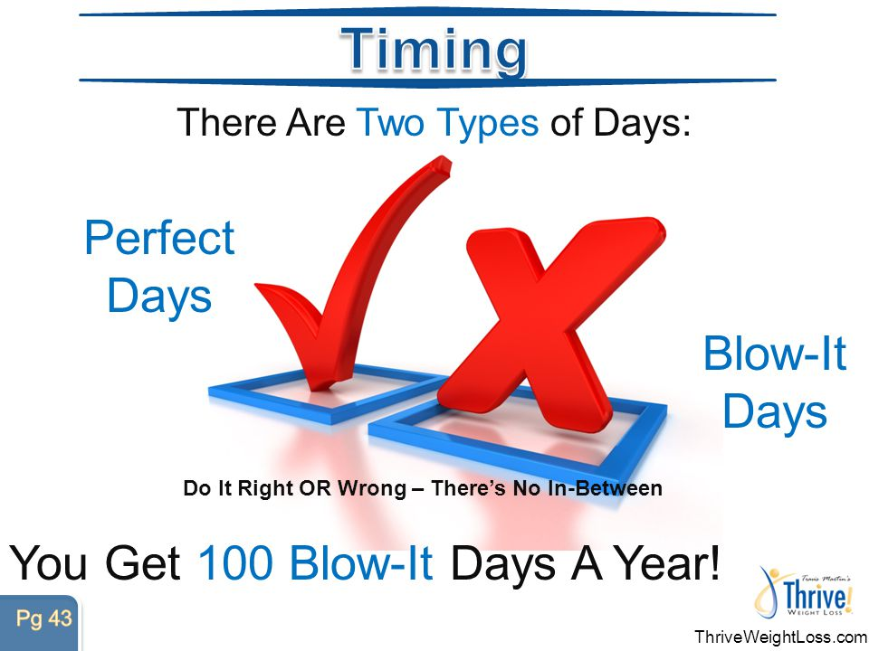 You Get 100 Blow-It Days A Year.