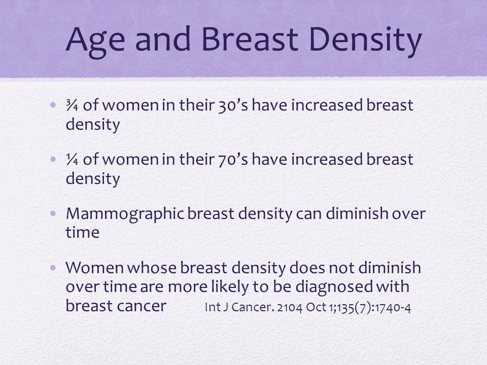 Causes of Increased Breast Density Genetic Neonatal Reproductive Hormonal Lifestyle Dietary Nutritional Environmental