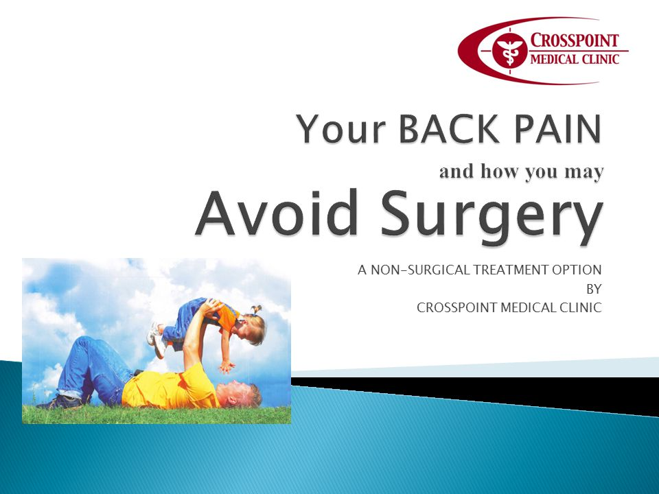 A NON-SURGICAL TREATMENT OPTION BY CROSSPOINT MEDICAL CLINIC