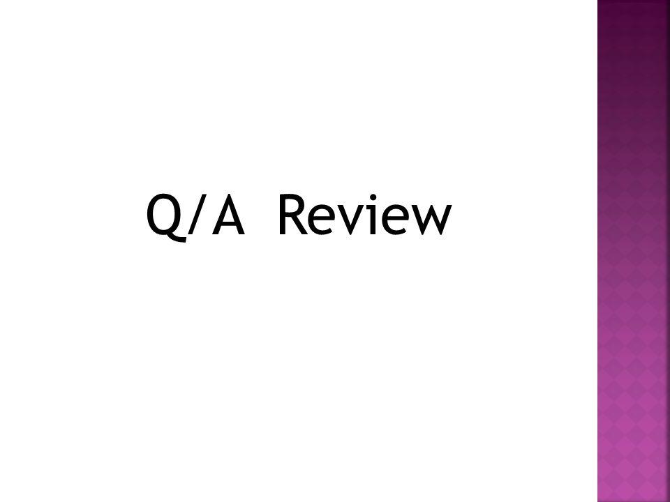 Q/A Review