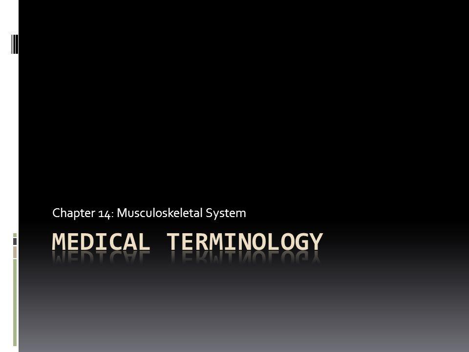 Med Terms (from word parts) [Disease and Disorders] TermDefinition  polymyositis  rachischisis  rhabdomyolysis  scoliosis  spondylarthritis  spondylosis  synoviosarcoma  tendinitis  tenosynovitis