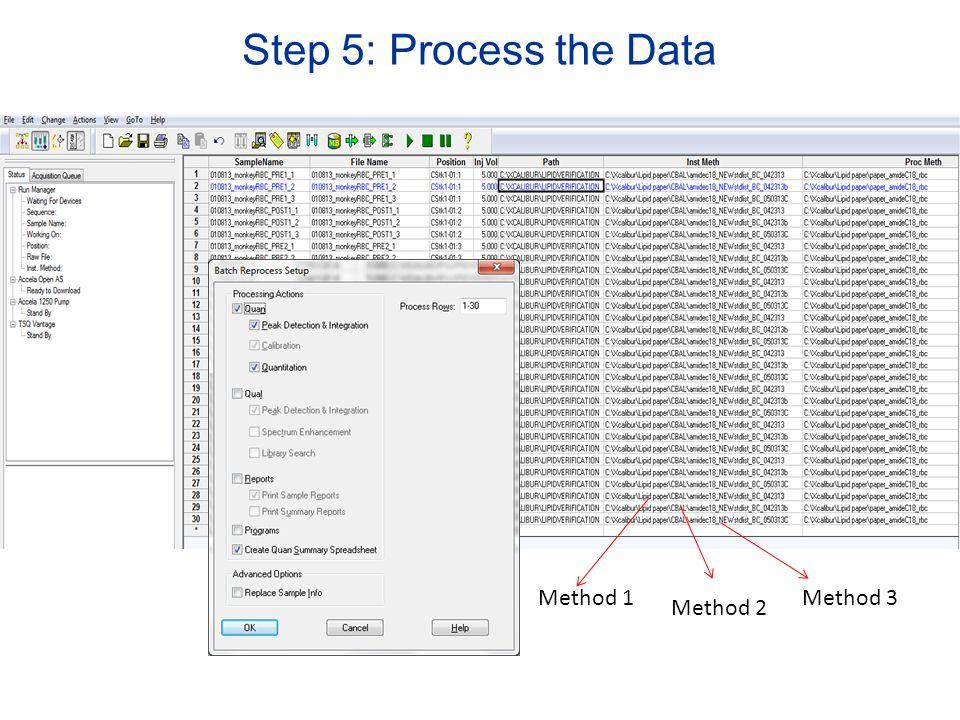 Method 1 Method 2 Method 3 Step 5: Process the Data