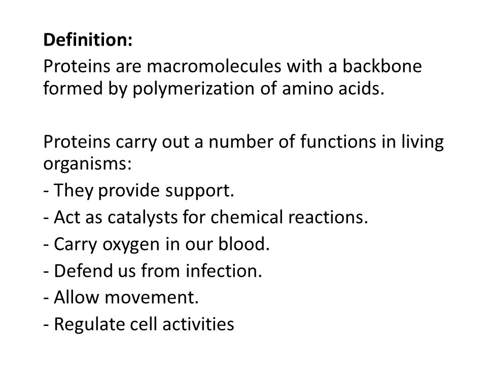 Classification: Proteins may be classified on the basis of their: - Composition - Solubility - Shape - Biological function - Three dimensional structure