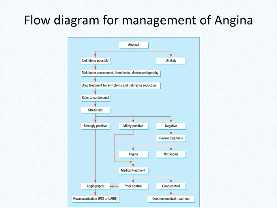 Flow diagram for management of Angina
