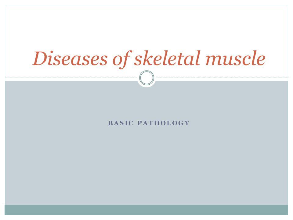 Diseases of skeletal muscle BASIC PATHOLOGY