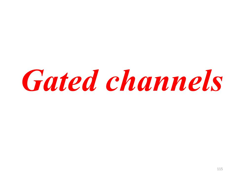 115 Gated channels