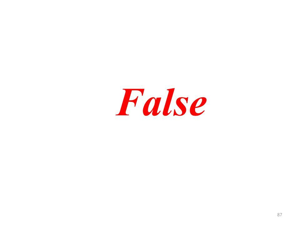 87 False