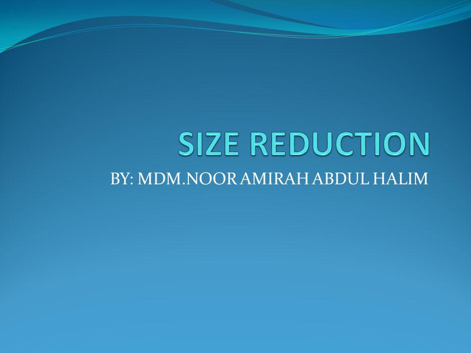 BY: MDM.NOOR AMIRAH ABDUL HALIM