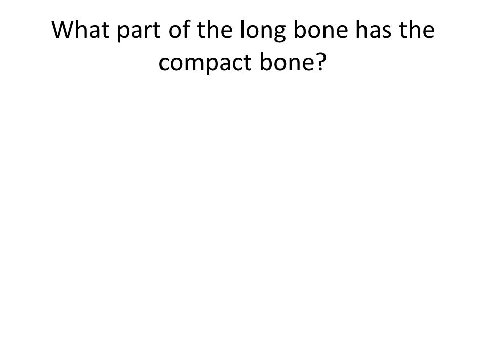 What part of the long bone has the compact bone