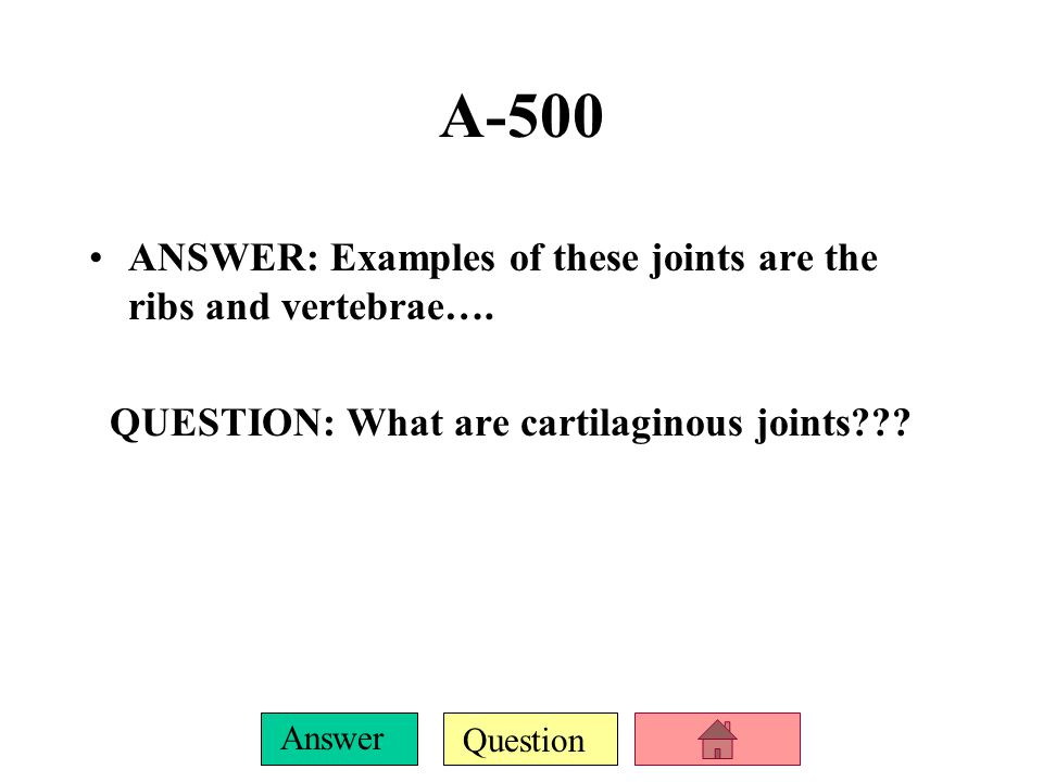 Question Answer A-400 ANSWER: Examples are the skull and pelvis….