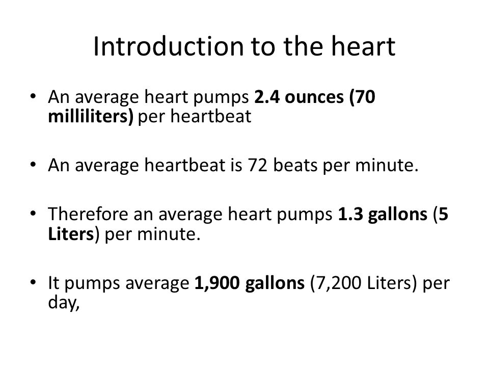 Blood Pressure Systole – the maximum pressure formed during a ventricular contraction Diastole – the minimum pressure during ventricular relaxation (atrial contraction) Measured in mm of Hg Normal Ranges Systolic = 100–140 Diastolic = 60–90 Hypotension – systolic < 90 Hypertension – systolic > 150 and/or diastolic > 90