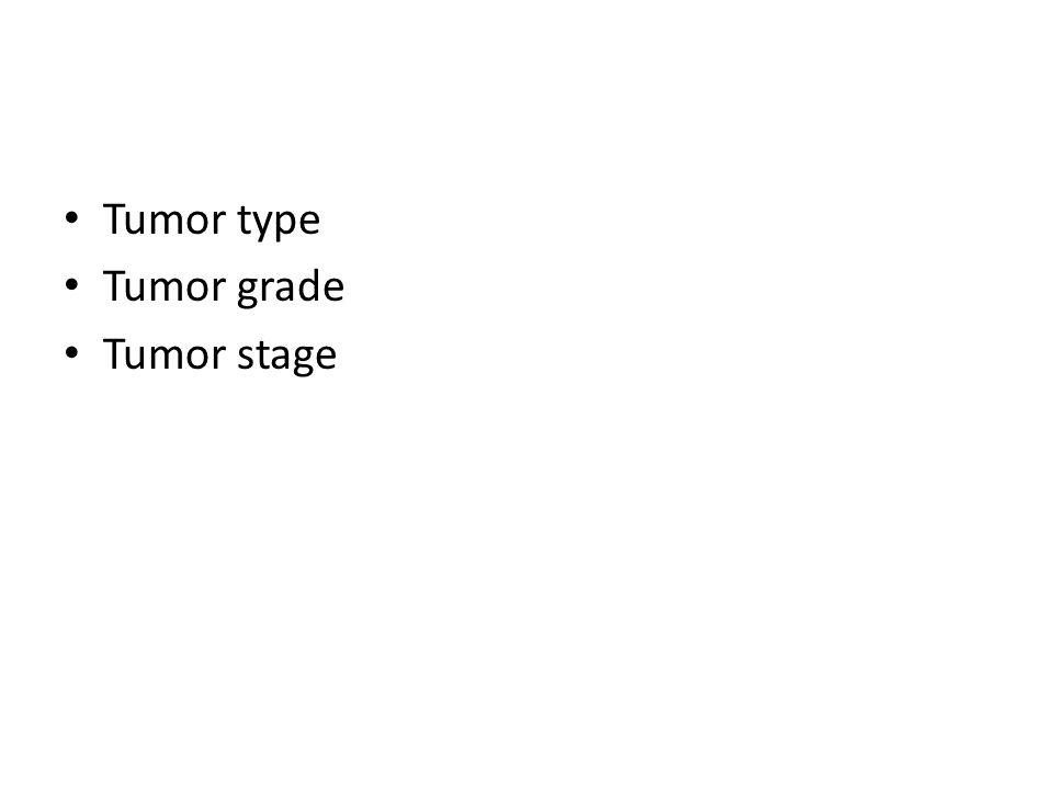 Tumor type Tumor grade Tumor stage