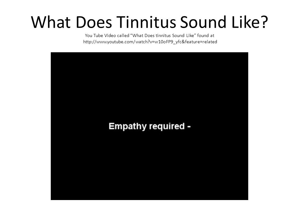 What Does Tinnitus Sound Like.