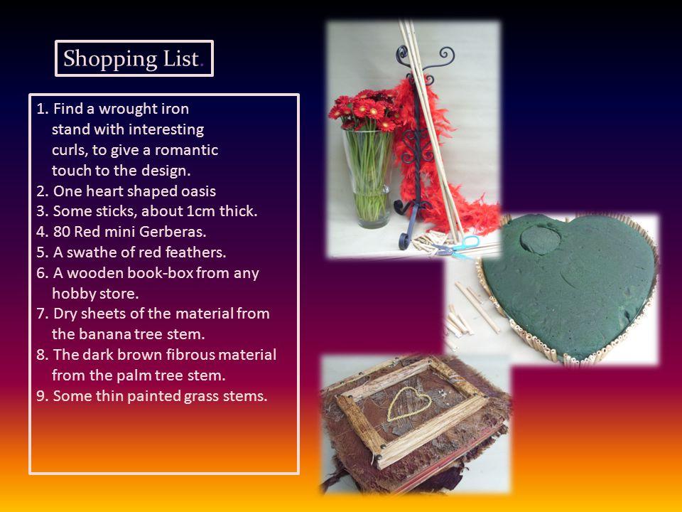 Shopping List. 1.