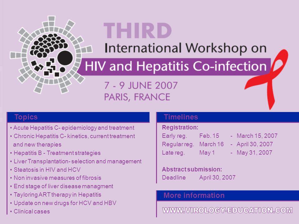 P-55 For more information, please visit www.virology-education.com Acute Hepatitis C- epidemiology and treatment Chronic Hepatitis C- kinetics, curren