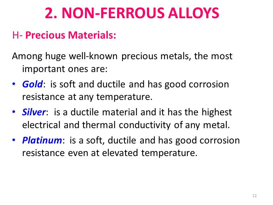 H- Precious Materials: 2.