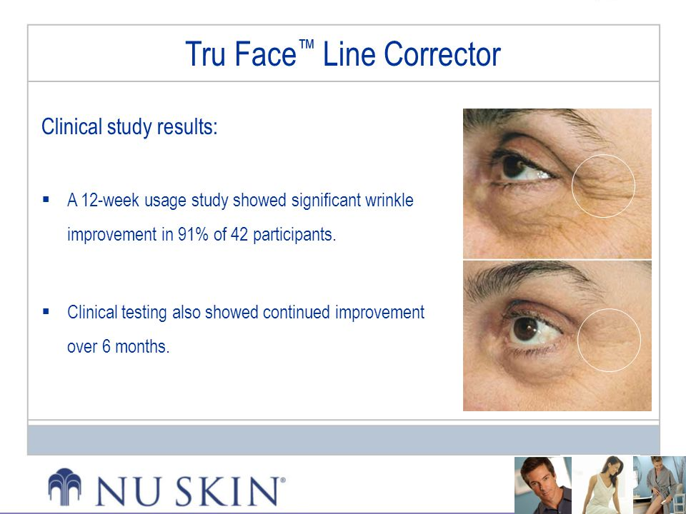 Clinical study results:  A 12-week usage study showed significant wrinkle improvement in 91% of 42 participants.  Clinical testing also showed conti