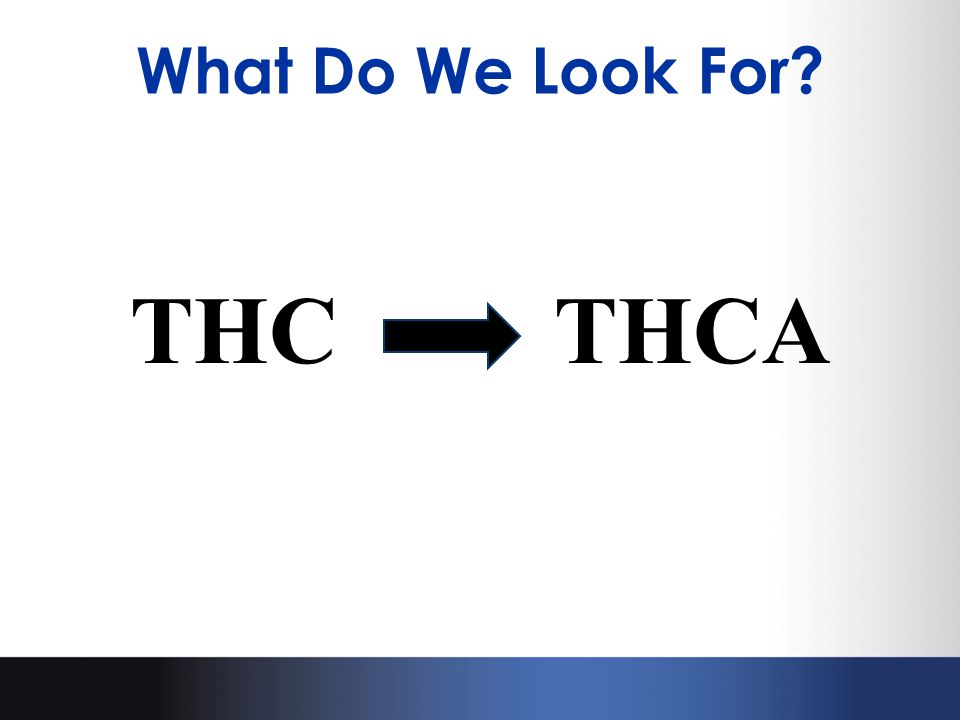 What Do We Look For? THCTHCA