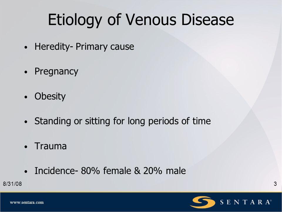 www.sentara.com 8/31/084 Microanatomy of Venous System Spider Veins Reticular Vein Perforator