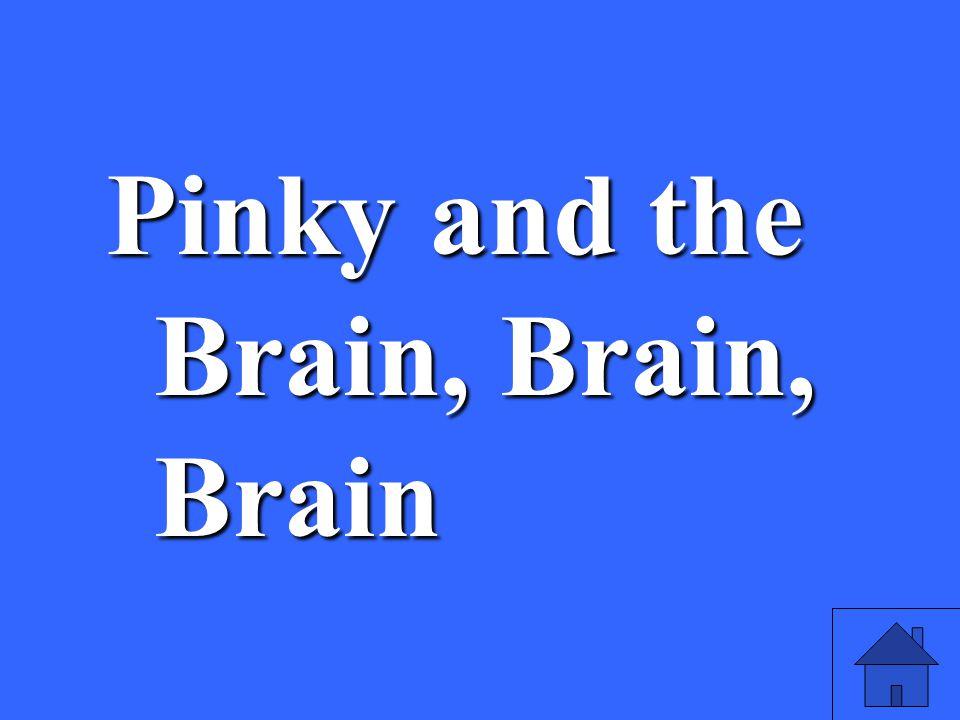 37 Pinky and the Brain, Brain, Brain