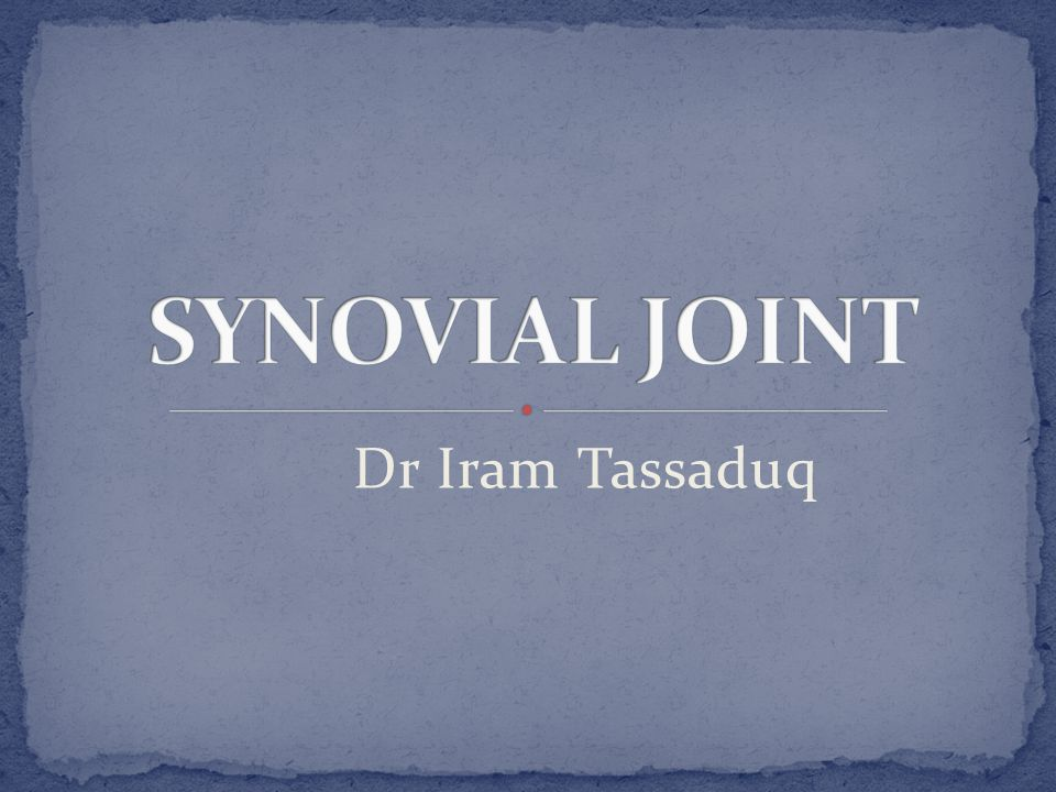 Joint in which two bones are separated by a space called a joint cavity Most are freely movable