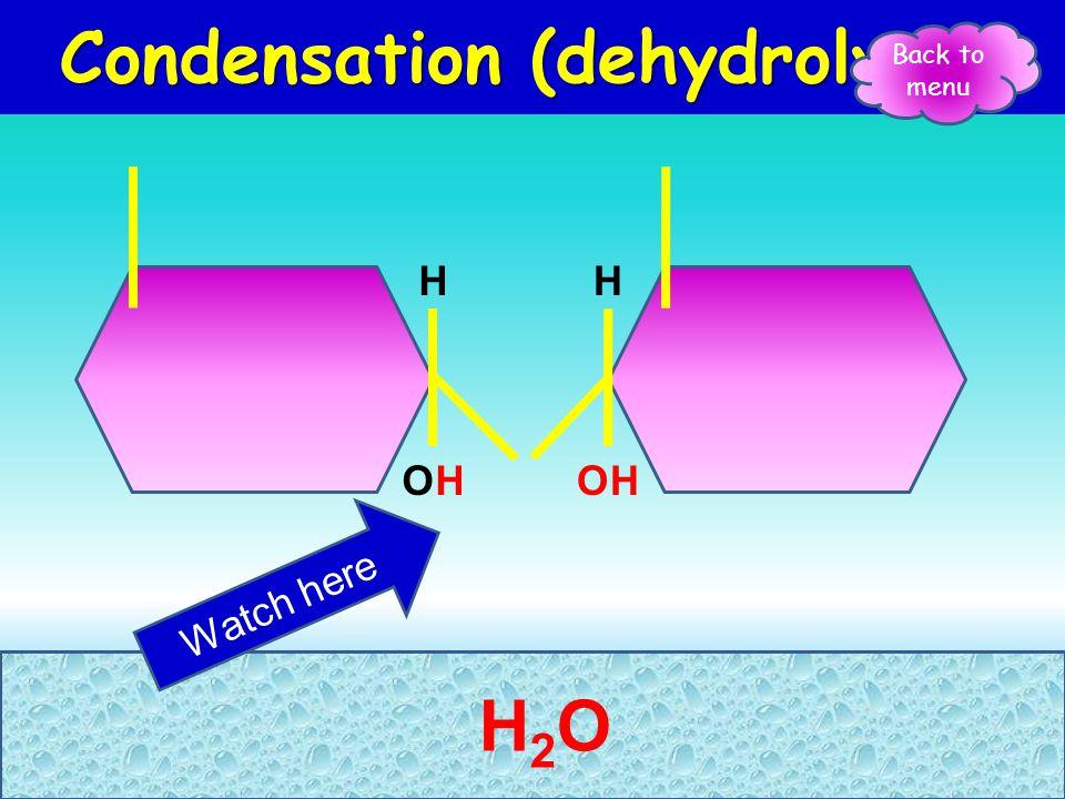 Condensation & Hydrolysis Polymerisation Polymerisation – joining monomers to form polymers Condensation /dehydrolysis Condensation /dehydrolysis – jo