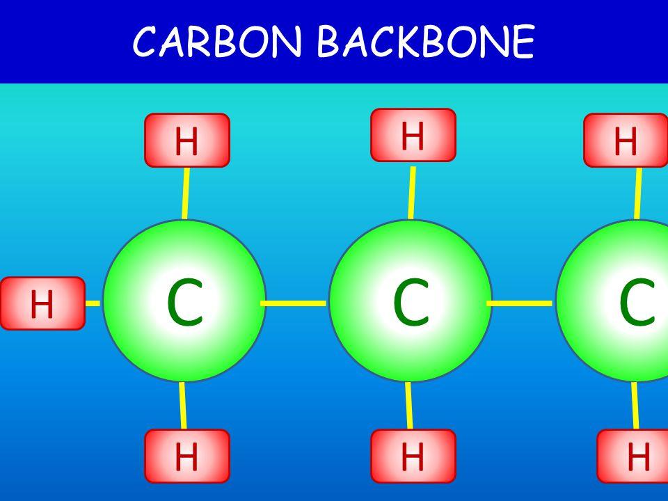 CARBON BACKBONE C C H H H H H H C H H