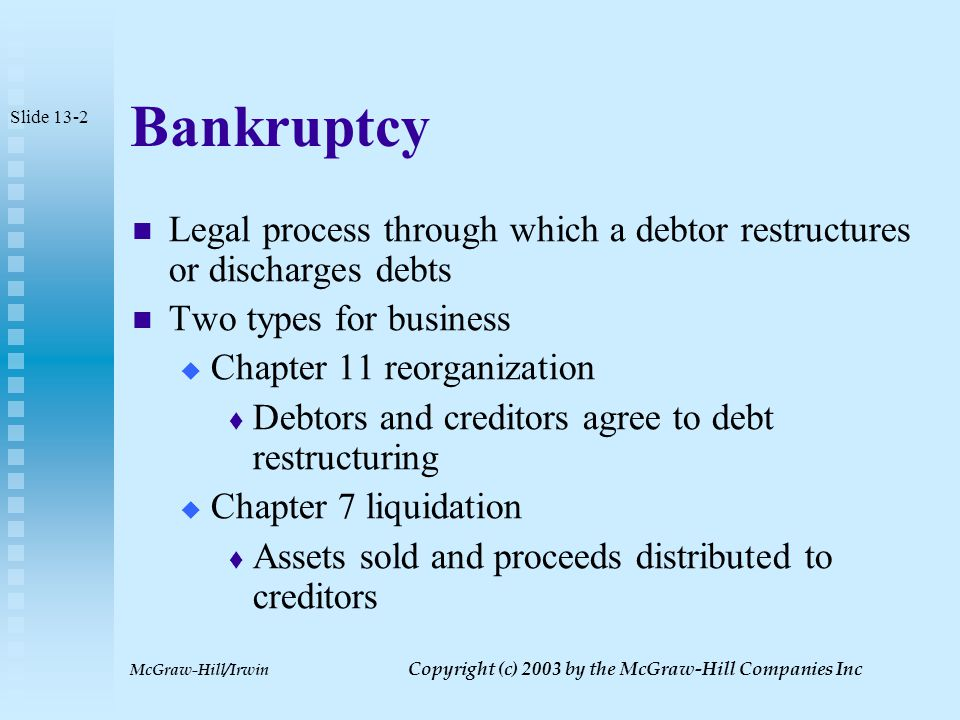 McGraw-Hill/Irwin Copyright (c) 2003 by the McGraw-Hill Companies Inc Principles of Taxation: Advanced Strategies Chapter 13 Business Liquidations and Terminations Slide 13-1