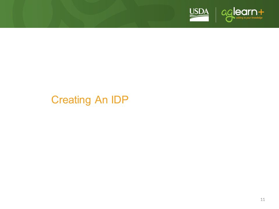 11 Creating An IDP