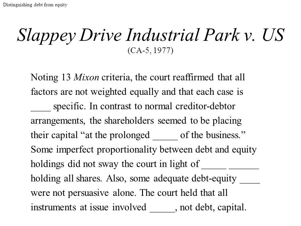Slappey Drive Industrial Park v.