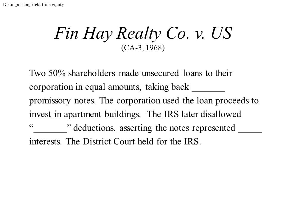 Fin Hay Realty Co. v.