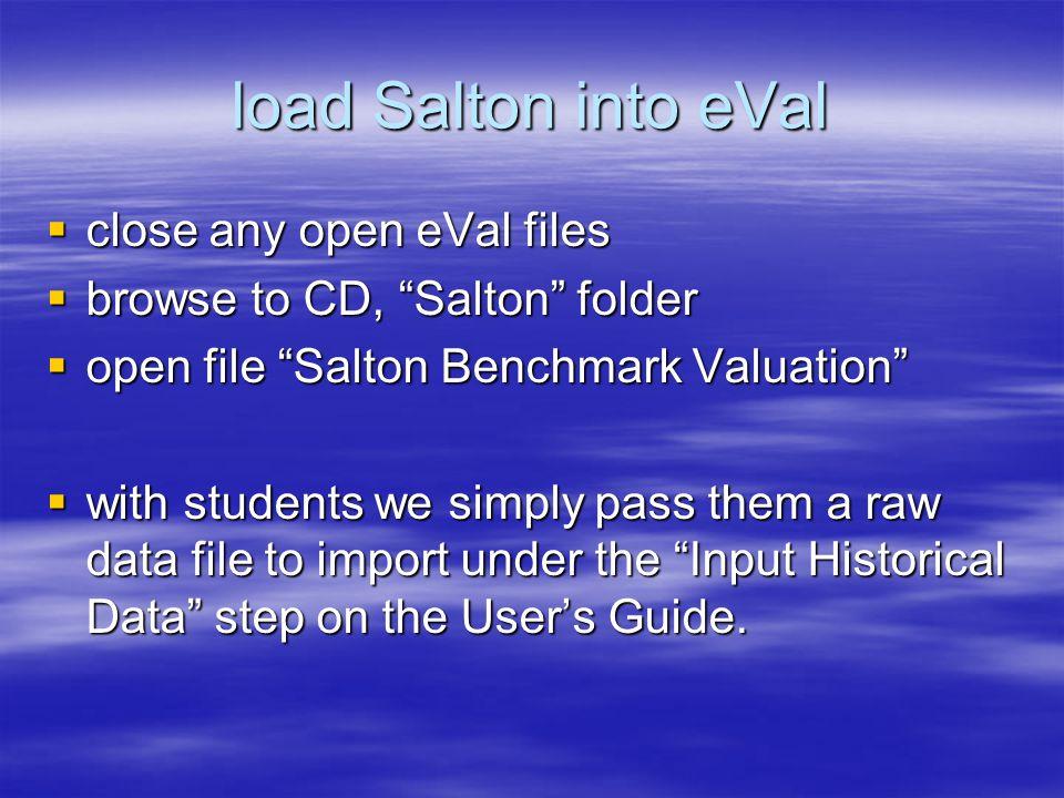 Salton's Past Performance