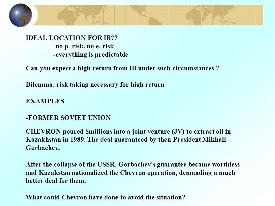 IDEAL LOCATION FOR IB?. -no p. risk, no e.