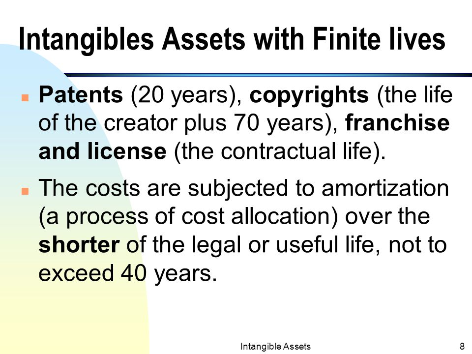 Intangible Assets7 Examples 1. Issuance of stock to acquire intangibles.