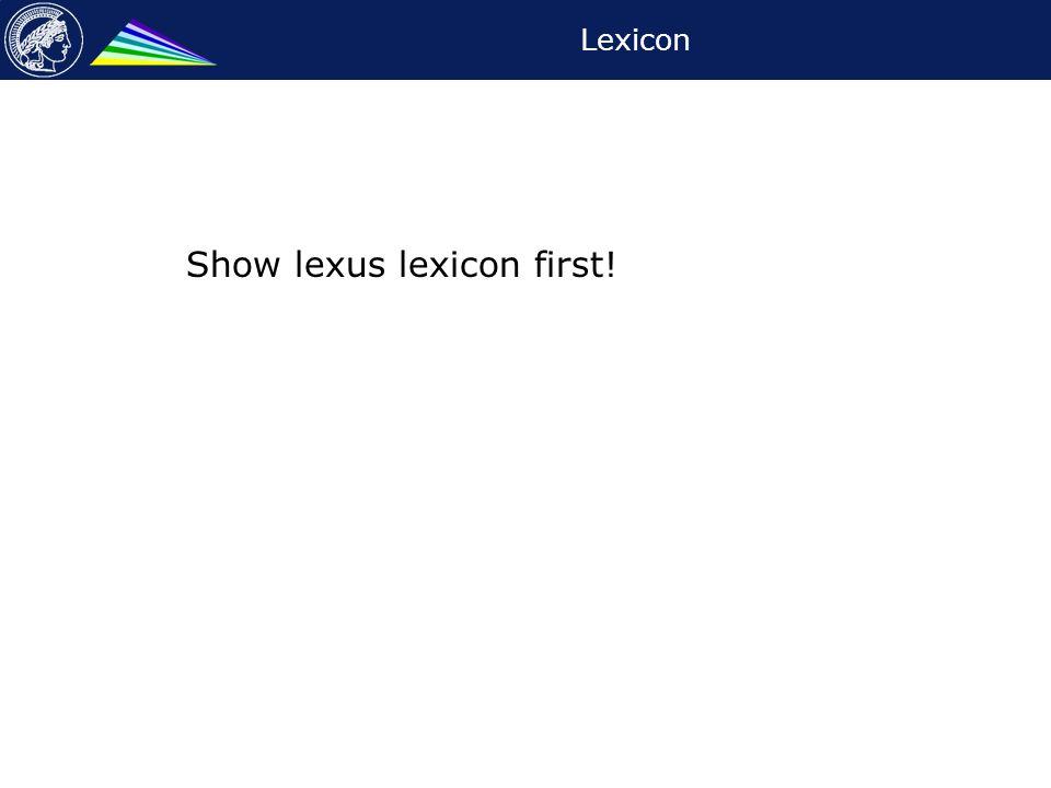 Lexicon Show lexus lexicon first!