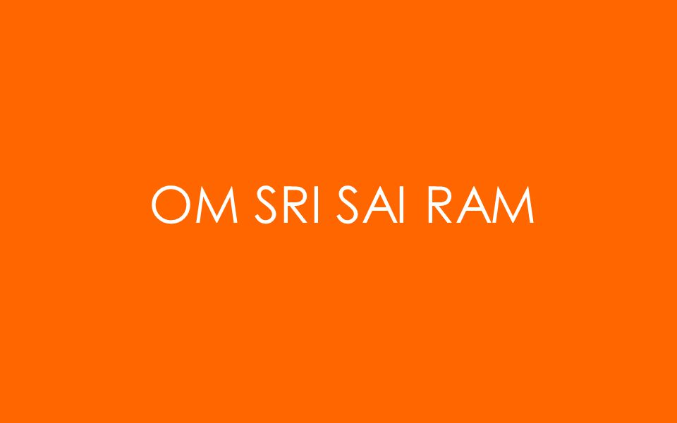 OM SRI SAI RAM